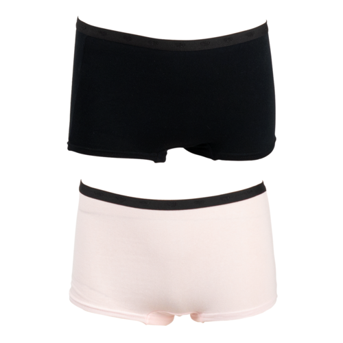 FUNDERWEAR FUNDERWEAR meisjes 2-pack ondergoed black barely pink
