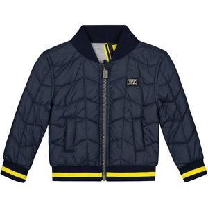 Quapi jongens jas reversible grey melee letter & dark blue bink