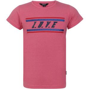 LITTLE MISS JULIETTE meisjes t-shirt pink love