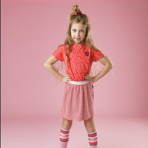 LITTLE MISS JULIETTE meisjes jurk red heart