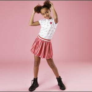 LITTLE MISS JULIETTE meisjes rok pink stripes