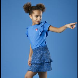 LITTLE MISS JULIETTE meisjes t-shirt blue ruffle
