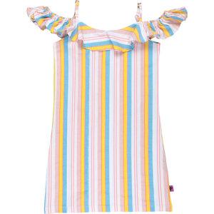 D-RAK meisjes jurk multicolor stripes