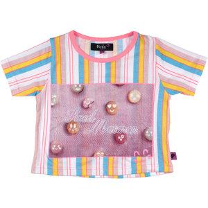 D-RAK meisjes t-shirt multi color stripes