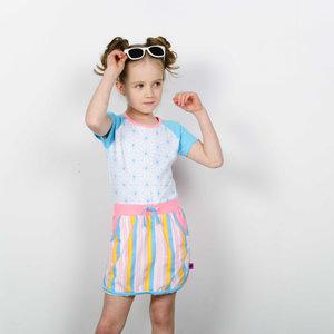 D-RAK meisjes jurk geopetric aop
