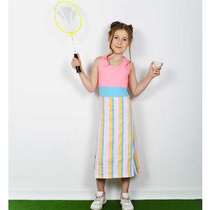D-RAK meisjes jurk multi color stripes
