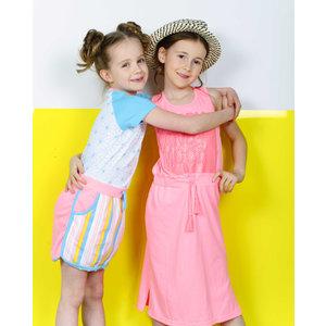 D-RAK meisjes jurk neon pink