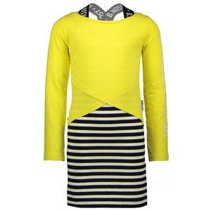 B.NOSY meisjes 2 delige set jurk met longsleeve lemon