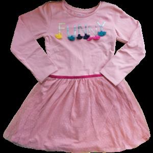 KNOT SO BAD meisjes jurk pink funny