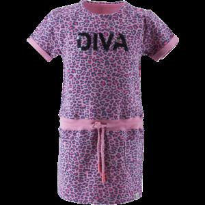 BORN TO BE FAMOUS meisjes jurk pink ao leopard