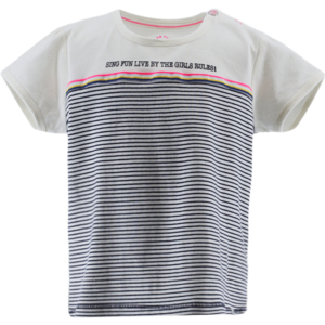 BORN TO BE FAMOUS meisjes t-shirt off white/stripe