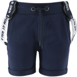BORN TO BE FAMOUS jongens korte broek met bretels navy