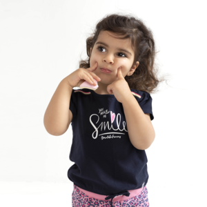 BORN TO BE FAMOUS meisjes t-shirt navy