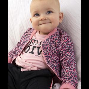 BORN TO BE FAMOUS meisjes vest pink ao leopard