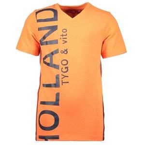 TYGO & VITO jongens t-shirt shocking orange holland