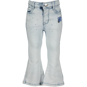 LE CHIC meisjes bleached flared broek extreme bleached