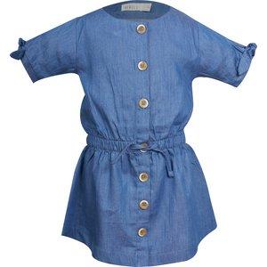 MINI REBELS meisjes jurk blue jeany