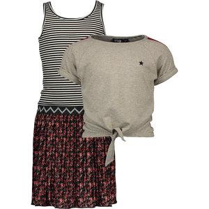 LIKE FLO meisjes jurk en t-shirt flower
