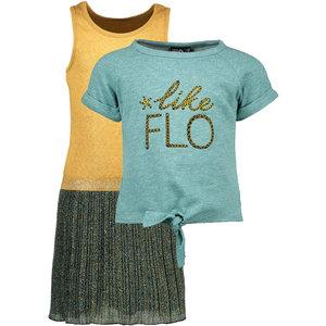 LIKE FLO meisjes jurk en t-shirt ocean