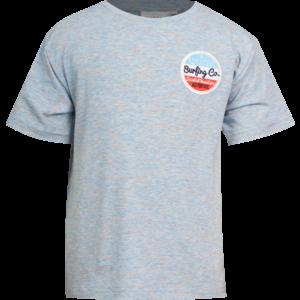 MINI REBELS jongens t-shirt blue melange surf