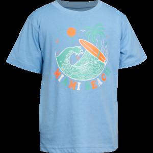 MINI REBELS jongens t-shirt light blue surf