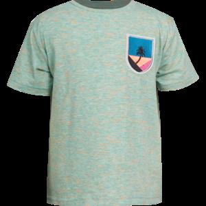 MINI REBELS jongens t-shirt green melange surf