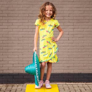 O'Chill meisjes jurk yellow nathalie