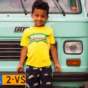 B'chill jongens t-shirt yellow brad