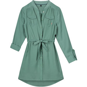 LEVV meisjes jurk botanic green