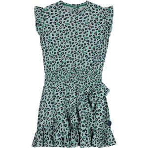 LEVV meisjes jurk soft mist leopard