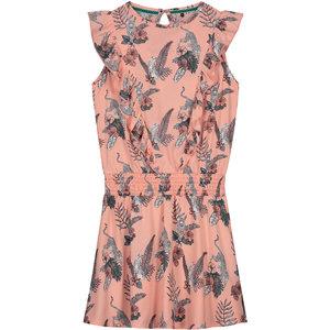 LEVV LEVV meisjes jurk soft peach flower