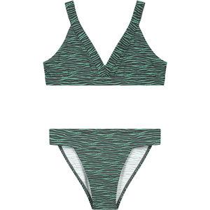 LEVV LEVV meisjes bikini botanic green zebra