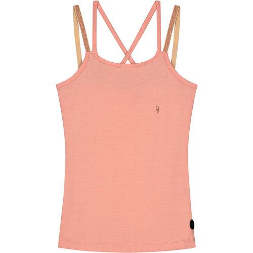 LEVV LEVV meisjes hemd grapefruit pink