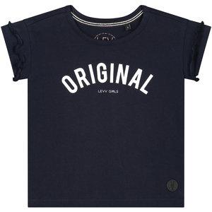 LEVV meisjes t-shirt dark navy