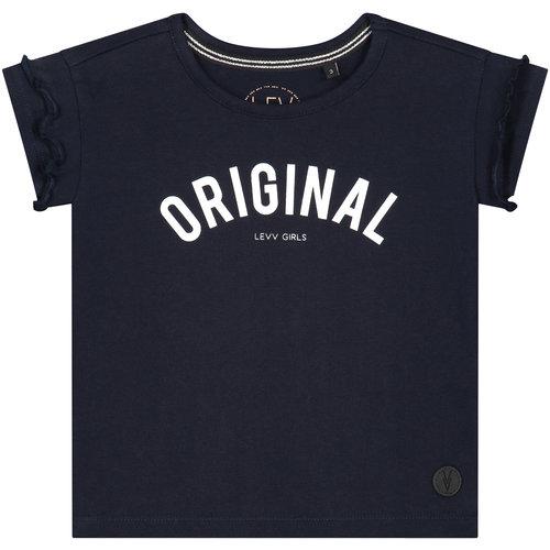 LEVV LEVV meisjes t-shirt dark navy