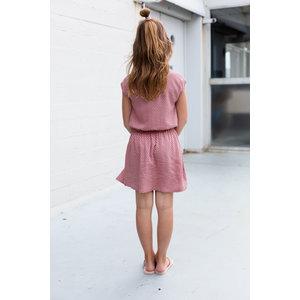 LEVV LEVV meisjes jurk soft peach retro