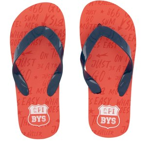Quapi jongens slippers vintage red text austin