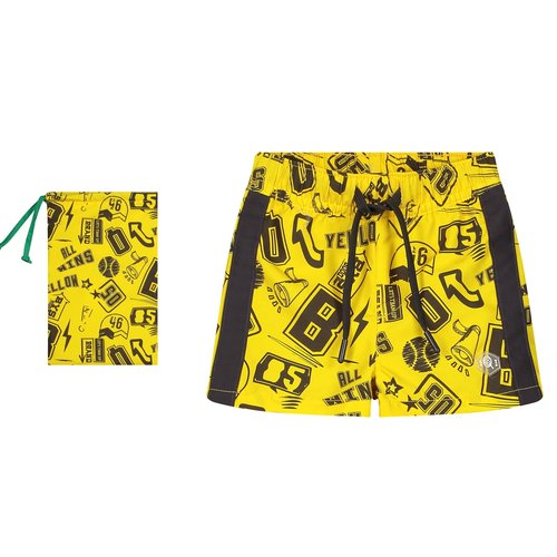 Quapi Quapi jongens zwembroek empire yellow text benny