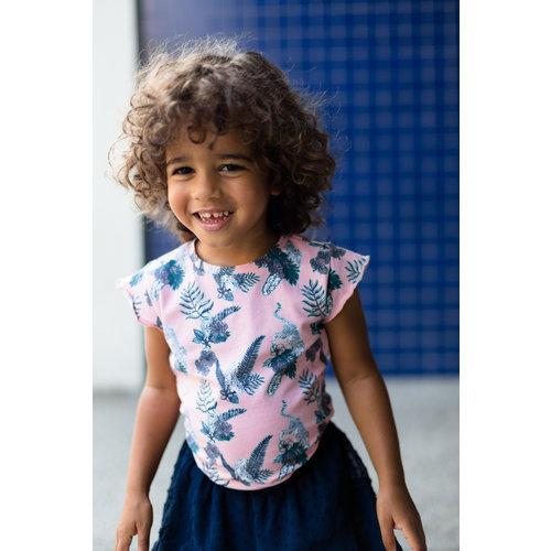 LEVV LEVV meisjes t-shirt soft peach flower