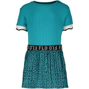 LIKE FLO meisjes jurk turquoise