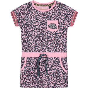 Quapi meisjes jurk light pink leopard balou