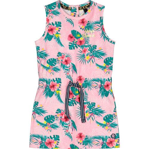 Quapi Quapi meisjes jurk light pink flower bellini