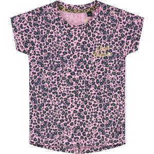 Quapi meisjes t-shirt light pink leopard bliss