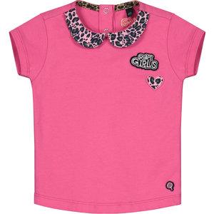Quapi meisjes t-shirt hot pink bloom