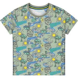 Quapi jongens t-shirt shadow green jungle berart