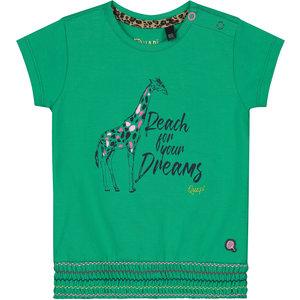 Quapi meisjes t-shirt jungle green bibe
