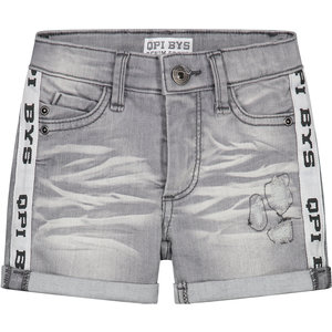 Quapi jongens korte broek light grey denim brecht