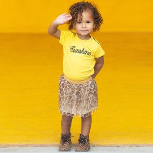 Quapi meisjes t-shirt banana yellow bijou