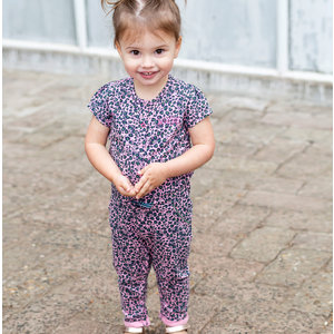 Quapi meisjes jumpsuit light pink leopard bess