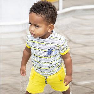 Quapi jongens t-shirt empire yellow stripe berk